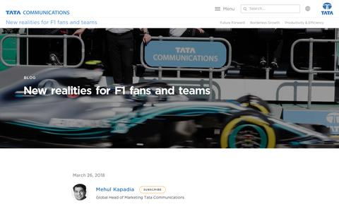 Screenshot of Testimonials Page tatacommunications.com - New Realities for F1 Fans and Teams in the Digital Age   Tata Communications - captured Dec. 18, 2019