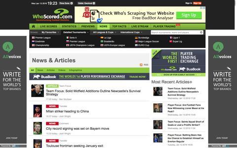 Screenshot of Press Page whoscored.com captured Jan. 13, 2016