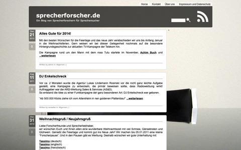 Screenshot of Case Studies Page sprecherforscher.de - sprecherforscher.de » Casestudies - captured Oct. 25, 2018