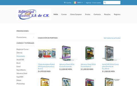 Screenshot of Home Page viadaseditorial.com - Editorial Viadas Cursos en Video y Asesoria Experta – Editorial Viadas Tienda - captured Oct. 26, 2016