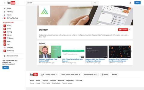 Exabeam  - YouTube