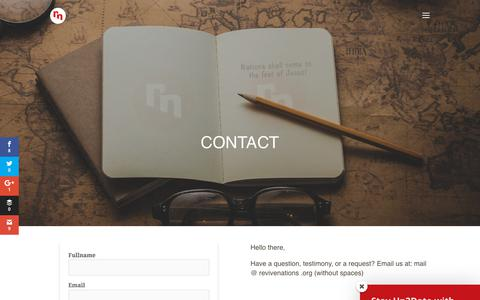 Screenshot of Contact Page revivenations.org - Contact us - Revive Nations - captured Sept. 23, 2018