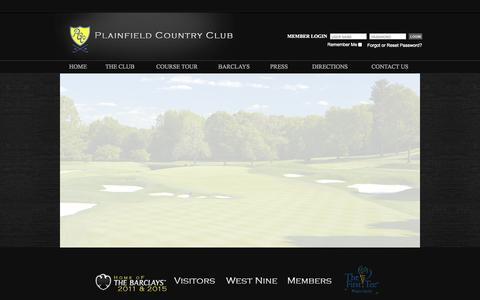 Screenshot of Press Page plainfieldcc.com - Home - Plainfield Country Club - captured Oct. 2, 2014