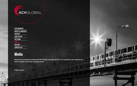 Screenshot of Press Page achglobal.com.au - Media - ACH Global - captured Oct. 29, 2014