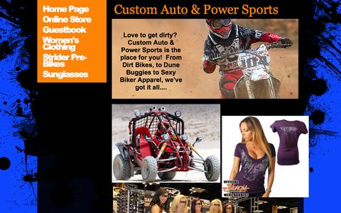 Screenshot of Home Page customautoandpowersports.com - Home Page - captured Oct. 3, 2014