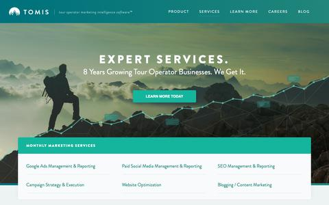 Screenshot of Services Page tomis.tech - Tour Operator Digital Marketing Services | TOMIS - captured Dec. 5, 2018