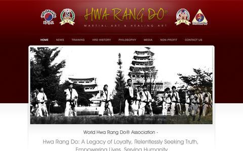 Screenshot of Home Page hwarangdo.com - World Hwa Rang Do ® Association | 501(c)(3) Non-Profit Organization - captured Oct. 7, 2014