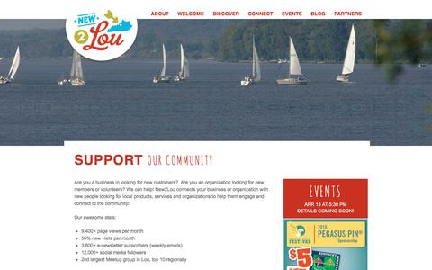 Screenshot of Support Page new2lou.com - Sponsor | New 2 Lou - captured March 30, 2016
