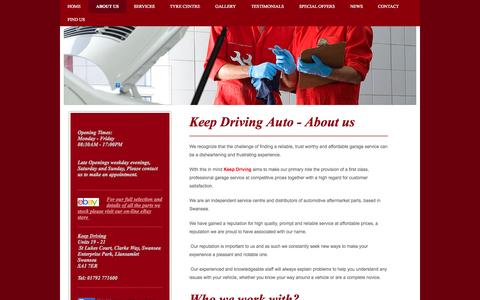 Screenshot of About Page keepdrivingauto.co.uk - Keep Driving Auto - About Us - captured Oct. 6, 2014