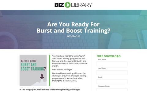 Screenshot of Landing Page bizlibrary.com - Burst and Boost Training: What You Need to Know [Infographic] - captured June 30, 2017