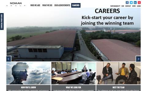 Screenshot of Jobs Page nomangroup.com - Careers   Noman Group - captured Feb. 15, 2016