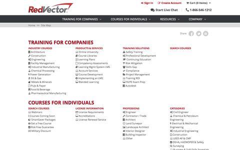 Screenshot of Site Map Page redvector.com - site-map - captured Nov. 23, 2015