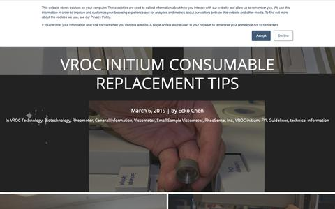 Screenshot of Blog About Page rheosense.com - RheoSense Blog: Viscosity, Viscometers, & More - captured March 14, 2019