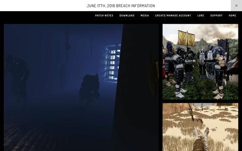 Screenshot of Press Page squarespace.com - Media — Mortal Online - captured Oct. 12, 2018