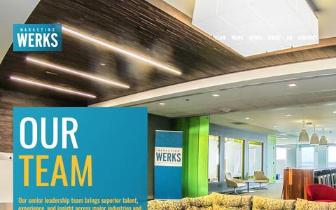 Screenshot of Team Page marketingwerks.com - Team — Marketing Werks - captured Sept. 20, 2018