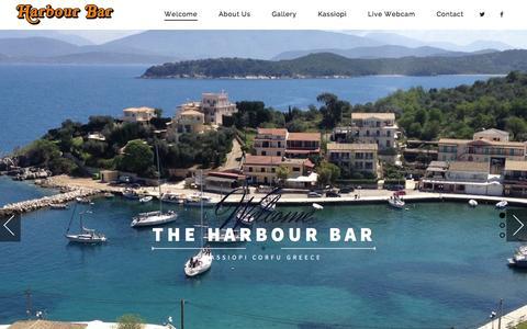 Screenshot of Home Page harbour-bar.com - Harbour Bar   Kassiopi - captured Dec. 7, 2015