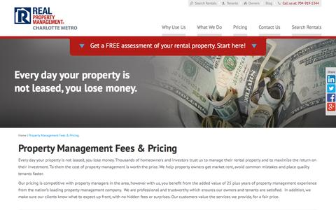 Screenshot of Pricing Page rpmcm.com - Property Management Fees Charlotte NC | Real Property Management Charlotte Metro - captured Feb. 14, 2016