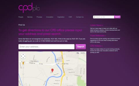 Screenshot of Contact Page cpd-plc.co.uk - CPD Plc - captured Sept. 26, 2014