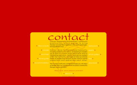 Screenshot of Home Page contactmag.org - Contact - free monthly mag for D'shala & McLeod Ganj. - captured Sept. 29, 2015