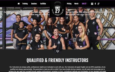 Screenshot of Team Page unit-27.com - Unit 27 - The Unit 27 Team - captured Sept. 27, 2015