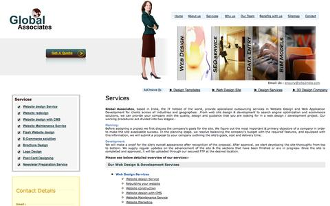 Screenshot of Services Page jobs2india.com - Website Desinging India, Affordable Web Design, Web Design Company, Expert Website Design Services, Brochure Design, Flash Website design, E-commerce website design, Back Office Services - captured Oct. 1, 2014