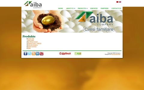 Screenshot of Products Page aiba.al - Produkte - captured Oct. 4, 2014