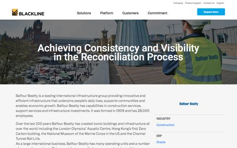 Screenshot of Case Studies Page blackline.com - Balfour Beatty - captured Nov. 29, 2019