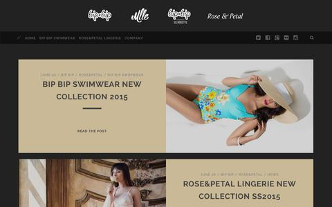 Screenshot of Home Page parisclubapparel.com - Bip Bip Swimwear / Rose&Petal Lingerie / Beachwear, Underwear, Homewear, Accessories from France - captured Sept. 24, 2014