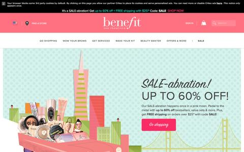 Screenshot of Products Page Jobs Page benefitcosmetics.com - Benefit Cosmetics > Official Site and Online Store | Benefit Cosmetics - captured Jan. 12, 2017