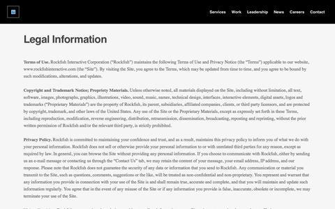 Rockfish Digital | Legal Information