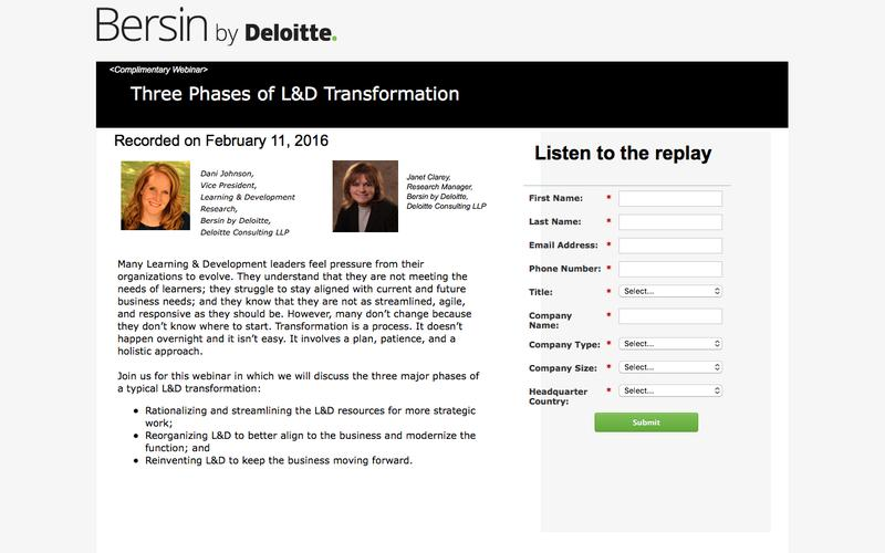 Three Phases of L&D Transformation