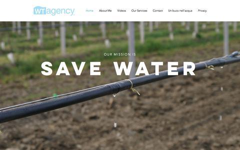 Screenshot of Home Page wt-agency.com - Irrigation | Wt Agency - captured Sept. 21, 2018