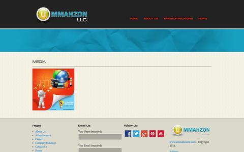 Screenshot of Press Page ummahzonllc.com - Ummahzon LLC Corporation - captured Aug. 17, 2016