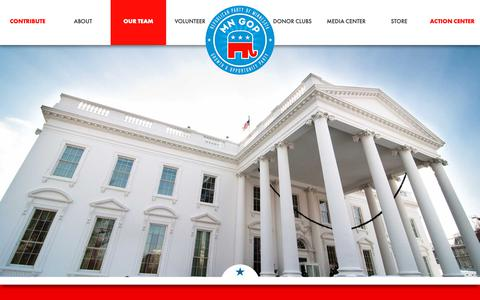 Screenshot of Team Page mngop.com - The White House – MNGOP - captured Oct. 18, 2018