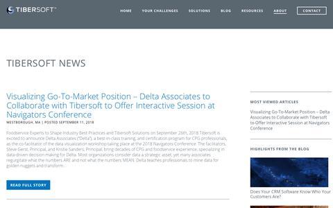 Screenshot of Press Page tibersoft.com - News | Tibersoft - captured Oct. 6, 2018
