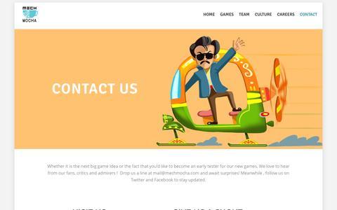 Screenshot of Contact Page mechmocha.com - Contact | Mech Mocha - captured July 4, 2016