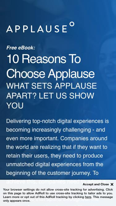 eBook: 10 Reasons To Choose Applause