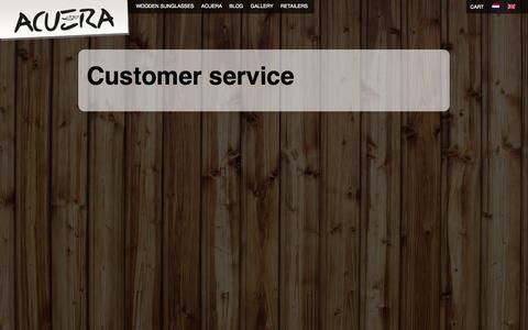 Screenshot of Support Page acuera.nl - Acuera – Houten Zonnebrillen | Acuera - captured Oct. 4, 2014