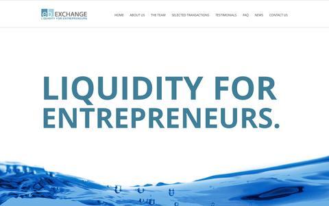 Screenshot of Home Page ebexchange.com - EB Exchange - captured Oct. 1, 2014