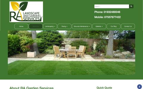 Screenshot of About Page ragardenservices.com - About RA Garden Services – R A Garden Services - captured Feb. 13, 2016