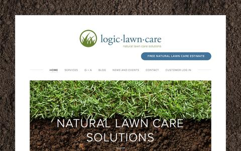 Screenshot of Home Page logiclawncare.com - Logic Lawn Care - captured May 23, 2017
