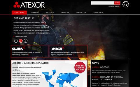 Screenshot of Home Page atexor.com - Atexor Oy - captured Oct. 4, 2014