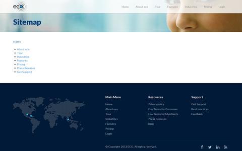 Screenshot of Site Map Page geteco.com - Sitemap - captured July 19, 2014