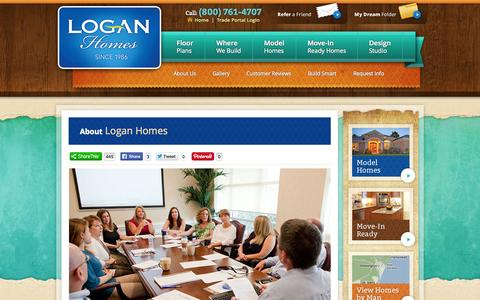 Screenshot of Team Page loganhomes.com - Our Leadership | About Logan Homes | NC New Home Builders - captured Sept. 30, 2014