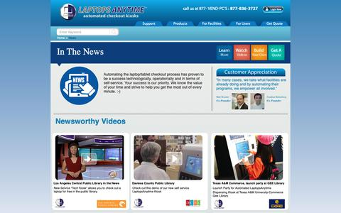 Screenshot of Press Page laptopsanytime.com - LaptopsAnytime in the News - captured Dec. 7, 2018