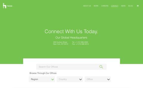 Screenshot of Contact Page havas.com - Contact Us | Havas - captured May 3, 2017