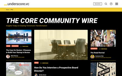 Screenshot of Blog underscore.vc - The Core Community Wire | Underscore VC - captured July 29, 2019