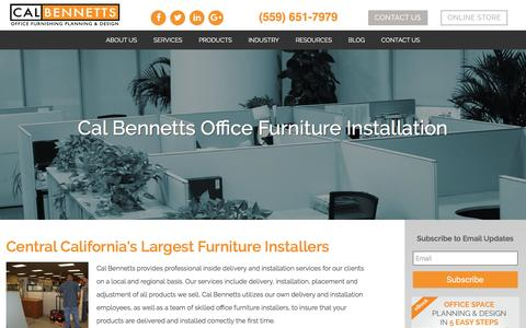 Screenshot of Services Page calbennetts.com - Office Furniture Installers | Furniture Installation Service - captured May 13, 2017