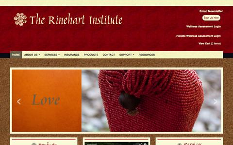 Screenshot of Home Page rinehartinstitute.com - Rinehart Institute :: Home - captured Sept. 30, 2014