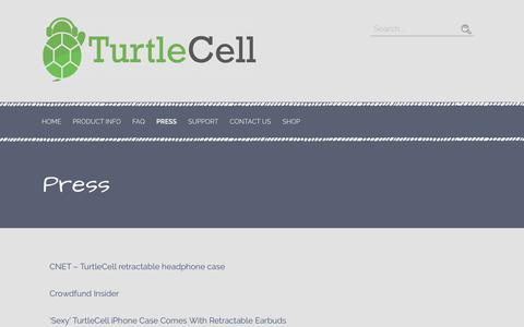 Screenshot of Press Page turtlecell.com - Press – Turtle Cell - captured Feb. 1, 2019